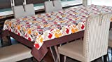 Lushomes 4 Seater Leaf Printed Table Cloth