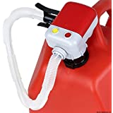 TERAPUMP TRFA01 4 AA Battery Powered Fuel Transfer Pump w/ Flexible Intake hose and Non-spill Auto-Stop Nozzle attachable to gas cans and more