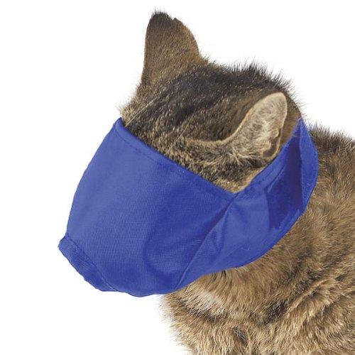 Guardian Gear Nylon Fashion Cat Fashion Muzzle, Small, Up to 6-Pound, Blue