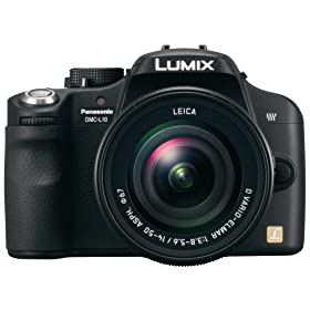 Panasonic DMC-L10 10.1MP Digital SLR Camera with Leica D Vario-Elmar 14-50mm f/3.8-5.6 Mega OIS Lens
