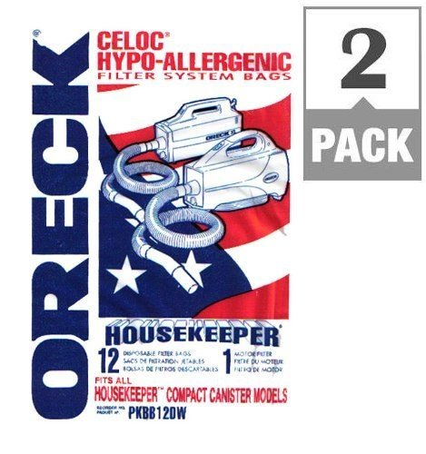 Oreck Compact Canister Vacuum For Oreck Bagged Pack / 12, 2 Count (Oreck Bagged Vacuum compare prices)