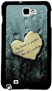PrintVisa Love Quotes Case Cover for Samsung Galaxy Note 1