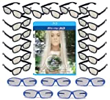20 Universal Passive 3D Glasses Family Pack - RealD & Master Image - Plastic 3-D Glasses (Includes Free 3D Blu-ray)