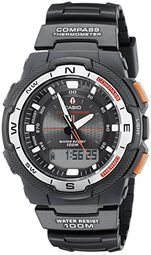 Casio Men's SGW500H-1BV Black Resin Analog Digital Twin Sensor Multi-Function Watch