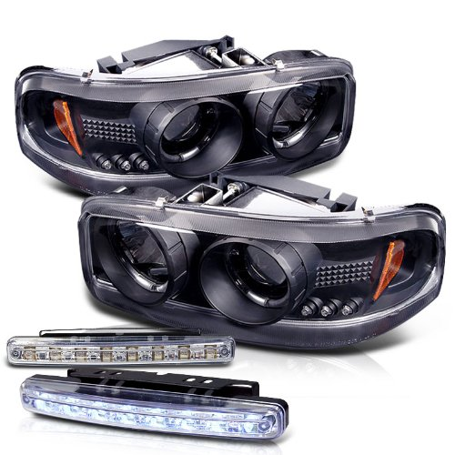 GMC / CHEVY Yukon Sierra Denali Projector LED Head Light+led Bumper