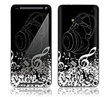 buy Htc One M7 Decorative Decal Skin Phone Cover W/ Matching Digital Wallpaper - Dj'S Headphones