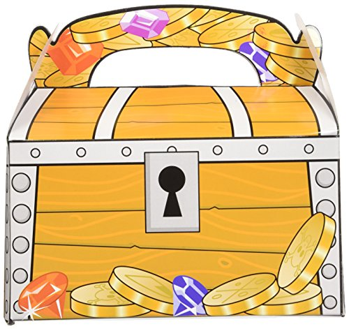Fun Express BB015291 Treasure Chest Favor Box - 12-Pack - 1