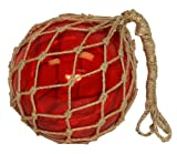"10"" Red Glass Fishing Floats - Nautical and Boat Decor - Sun Catcher"