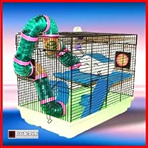 Amazon.com : Garfield Hamster Cage Fun House Hamsters : Birdcages : Pet Supplies