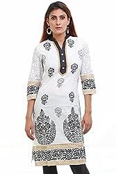 Aamii Women's Cotton Kurta(Aamii758_White_XX-Large)