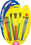 BAZIC Asst. Size Kid's Watercolor Paint Brush Set (15/Pack) (Case of 144)