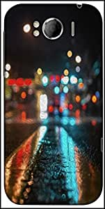 Snoogg Wet Road Parallax Designer Protective Back Case Cover For HTC Sensation Xl
