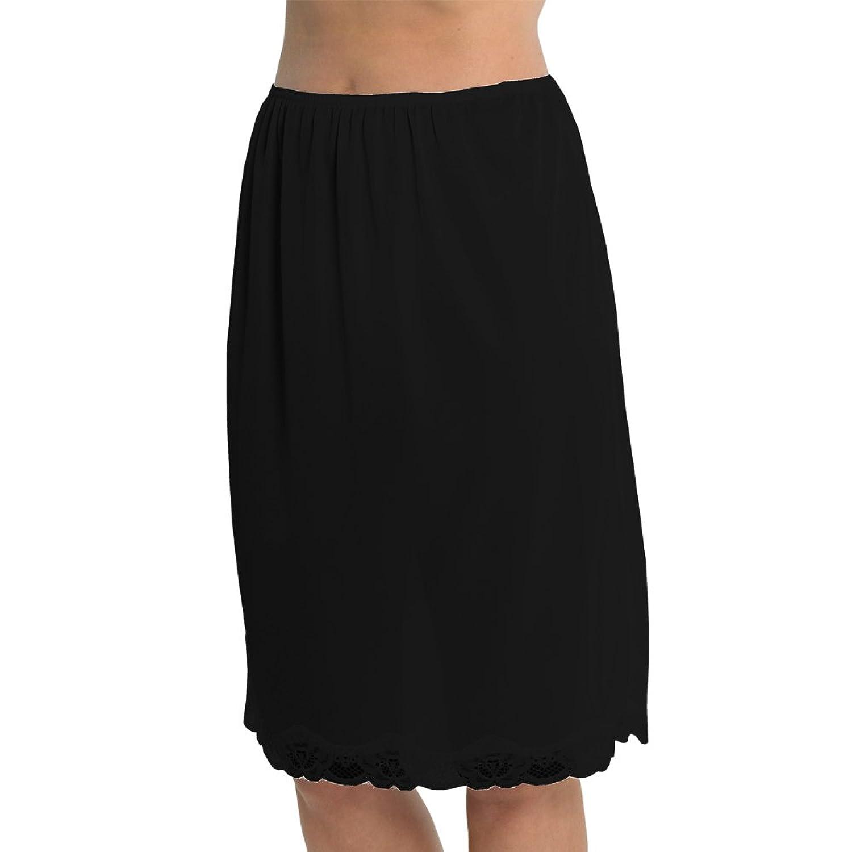 Marlow Damen Unterrock aus seidigem Polyester mit Spitze an der Unterseite, ca. 60 cm Länge, verschiedene Farben und Größen