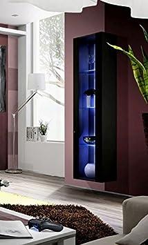 Muebles Bonitos - Armario Colgante modelo Capri en color Negro