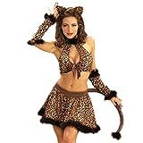 Cosjob女豹コスチュームハロウィンタトゥーシールセット(A1331)Halloween仮装イベントパーティー衣装コスプレヒョウ豹ひょう猫耳ネコ耳パンサーフェイスシール女豹