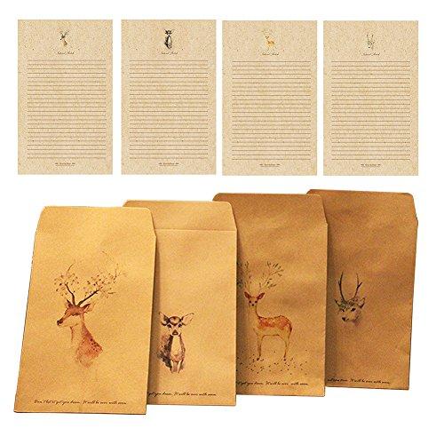 gossipboy-8-pcs-1-set-vintage-deer-design-crafts-papier-briefumschlage-und-briefpapier-kit-europaisc