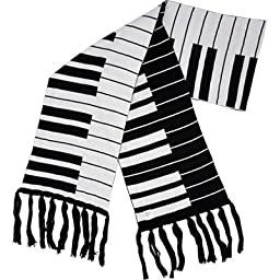 Fine Knit Keyboard Scarf 66X\