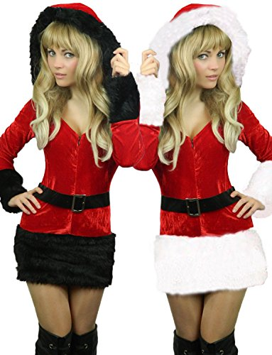 Yummy Bee Mrs Santa Costume Cosplay Womens Plus Size 2 - 18