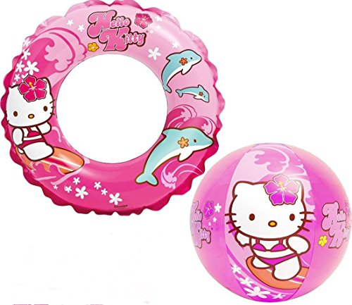 Intex-Hello-Kitty-Kids-Swimming-Set-Includes-Swim-Ring-Tube-and-Beach-Ball-For-Children-Ages-3-6