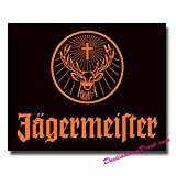 2 x Glossy Vinyl Stickers - Jagermeister Tool Box Laptop Decal #0062 (As shown.)