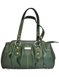 Zifana Leather Hand Bag Green For Women - B00JHN2FY0