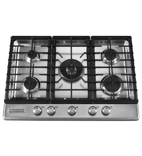 KitchenAid Architect Series II : KFGS306VSS 30 Gas Cooktop with 5 Sealed Burners - Stainless Steel