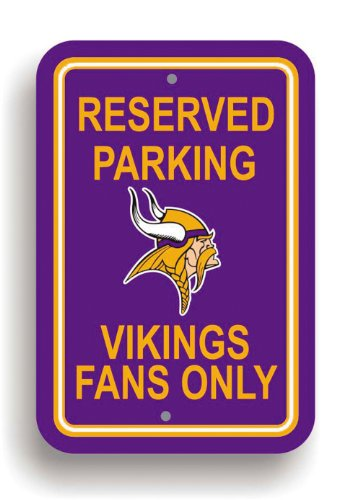 NFL Minnesota Vikings Plastic Parking Sign