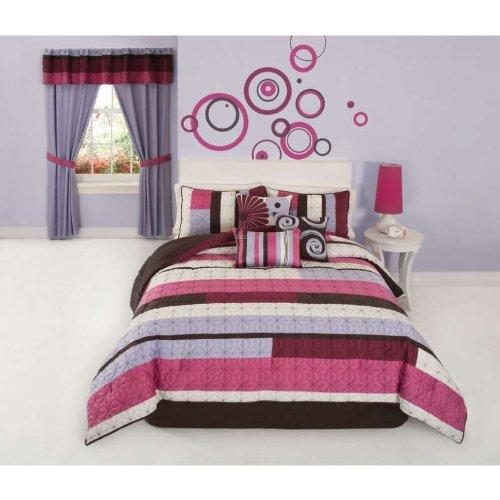 Choppy Pink Comforter Set Red