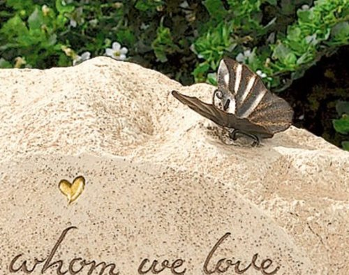 """Grasslands Road Always in Our Hearts Bereavement Stone """"They Whom We Love"""""""