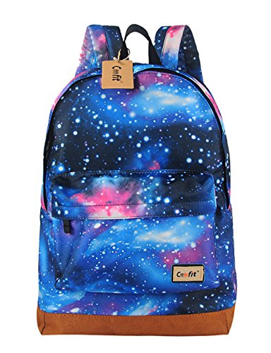 Buy Cheap Coofit® Fashion Canvas Galaxy Universe Star Girl's Backpack Shoulders Bag (Blue)