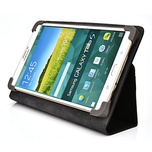 Kroo Universal Multi Fit 6 to 8 Inch Tablet Folio Case, Black (MU08EXK1-8345) (Kobo Mini Case With Light compare prices)