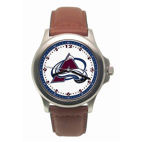 Logoart Colorado Avalanche Men's Leather Rookie Watch Mens