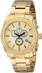 Invicta Men's 17744 Specialty Analog Display Swiss Quartz Gold Watch