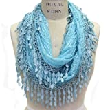 Scarfand Womens Lace Infinity with Fringe