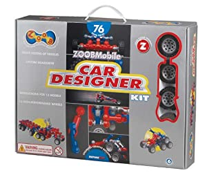 ZOOB 0Z12052 ZOOBMobile Car Designer Moving Mind-Building Modeling System, Assorted Colors, 76-Pieces from Zoob