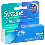 Systane Nighttime Lubricant Eye Ointment, 0.123-Ounce Tubes (Pack of 2)