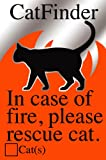Cat Pet Rescue Sticker Fire and Emergency Pet Notification - Adhesive Backed