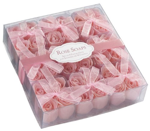 Box of 9 Sets of 4 Pink Rose Bath Soaps