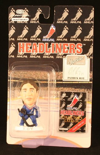 PATRICK ROY / NHLPA SIGNATURE SERIES * 3 INCH * 1996 NHL Headliners Hockey Collector Figure