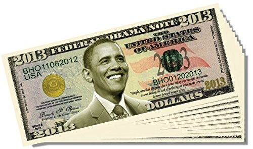 Barack Obama 2013 Federal Reserve Note - 25 Count with Bonus Clear Protector & Christopher Columbus Bill