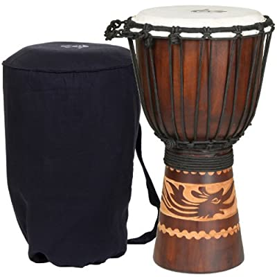 X8 Drums Kalimantan Backpacker Djembe Drum with Tote Bag by X8 Drums