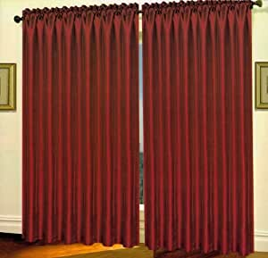 Triple Layer Faux Silk Blackout Curtain Energy Saving And Noise Reducing 55