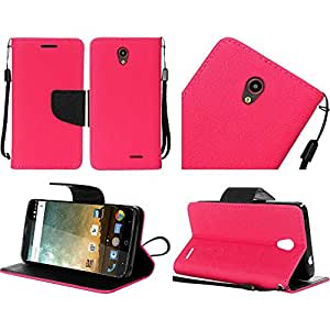 HR Wireless Carrying Case for ZTE Prestige N9132 - Retail Packaging - Hot Pink