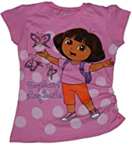 Nickelodeon Dora the Explorer Girls T-shirt w/ Ruching (6X)