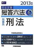 2013年版 司法試験 短答六法 6 刑事系・刑法