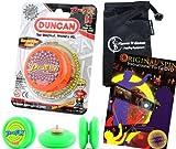 Duncan PROFLY YoYo (Orange) Pro String Trick YoYos with Travel Bag + 75 Yo-Yo Tricks DVD! Pro YoYos For Kids and Adults