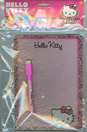 "HELLO KITTY DRY ERASE BOARD Set with Board (6"" x 8"") & Dry Eraser ""Marker"""