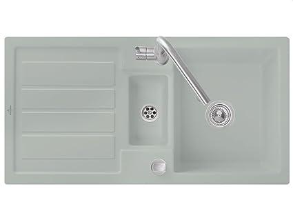 Villeroy Boch Flavia &Fossil Grey 60 Ceramic Sink Kitchen Spule