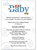 Oh Baby Boy Baby Shower Invitations - Set of 20