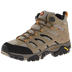 Merrell GORE-TEX XCR Men's Moab Mid Hiking Boots, Dark Tan